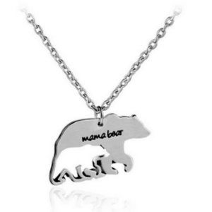 "Mama Bear"" Charm necklace jewelry"